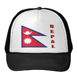 Gorra nepalés del recuerdo de la bandera de Nepal