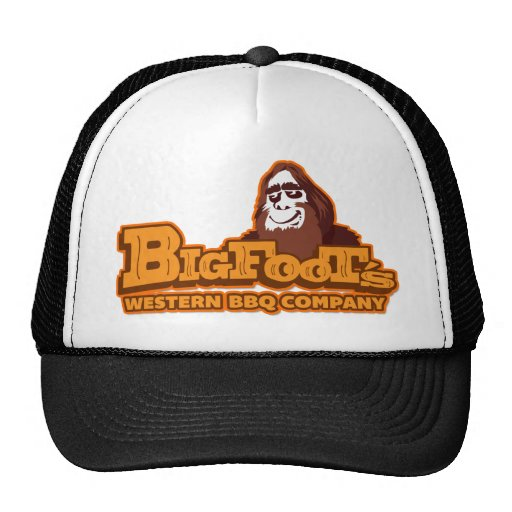 Gorra occidental del camionero del Bbq Co. de Bigf