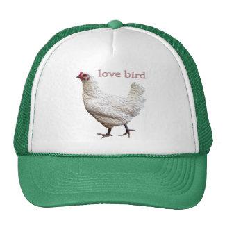 Gorra oficial del camionero del pájaro del amor