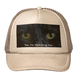 Gorra: Ojos de gato negro Gorros Bordados