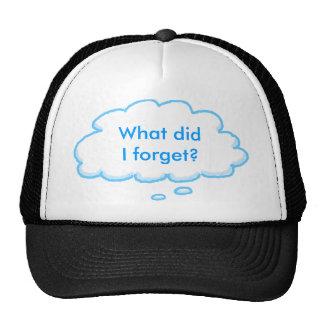 Gorra olvidadizo de la burbuja del pensamiento del