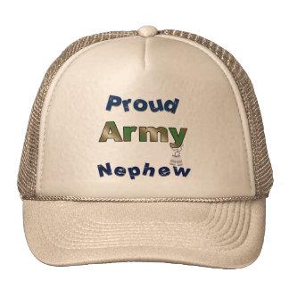 Gorra orgulloso del sobrino del ejército