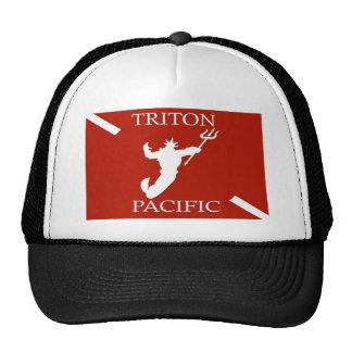 Gorra pacífico del camionero del logotipo de Tritó