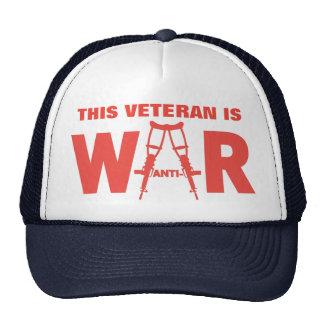 Gorra pacifista del veterano