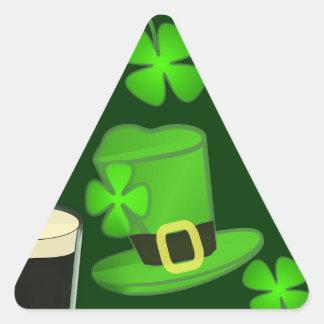 Gorra para el día del St Patricks Calcomanías De Triangulos Personalizadas