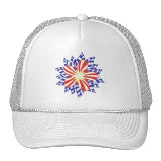 Gorra patriótico de la flor de las barras y estrel