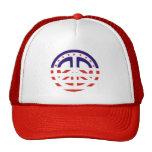 Gorra patriótico del signo de la paz