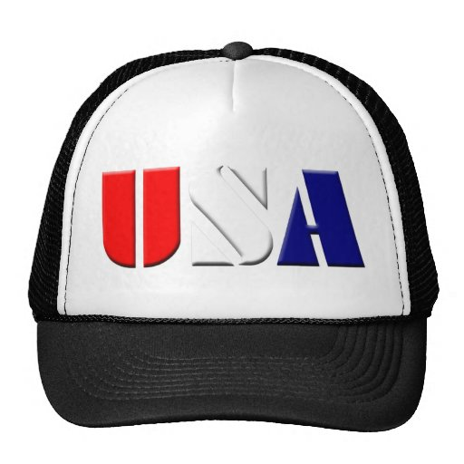 Gorra patriótico negro de los camioneros de los E.