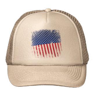 Gorra patriótico sucio de los E.E.U.U.