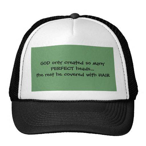 Gorra perfecto de las cabezas