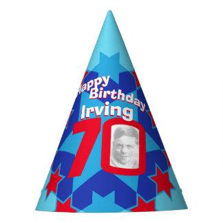 gorra personalizado 70.o cumpleaños del nombre de gorro de fiesta