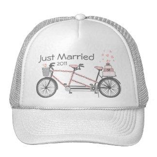 Gorra personalizado boda en tándem de la bicicleta