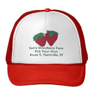 Gorra personalizado de las fresas de la fresa