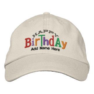 Gorra personalizado del bordado del feliz cumpleañ gorra de béisbol