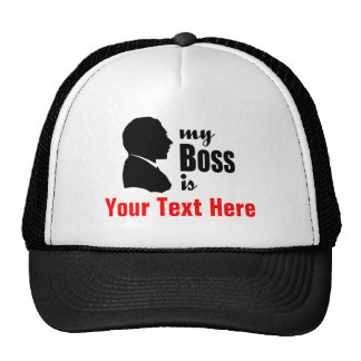 "Gorra personalizado divertido de ""mi Boss"" del hum"