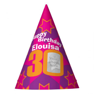 gorra personalizado trigésimo cumpleaños del gorro de fiesta