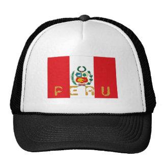 Gorra peruano del recuerdo de la bandera de Perú