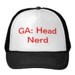 Gorra principal anónimo del camionero del empollón
