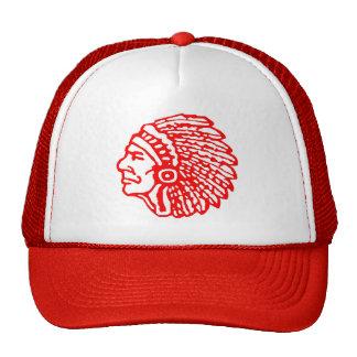 Gorra principal indio del logotipo del vintage