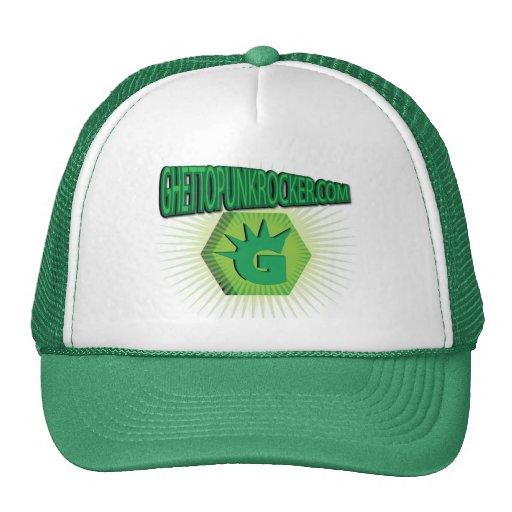Gorra punky verde del logotipo