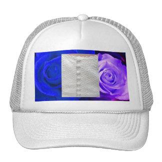 Gorra púrpura azul blanco de los rosas del vestido