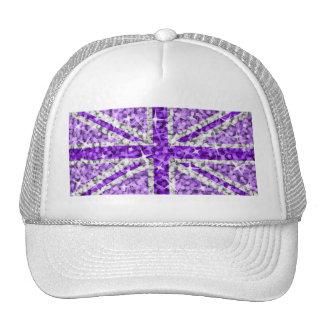 Gorra púrpura BRITÁNICO del camionero de la mirada