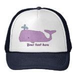 Gorra púrpura de la ballena
