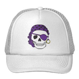 Gorra púrpura del cráneo del pirata