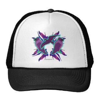 Gorra púrpura del cuervo