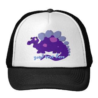 Gorra púrpura del Stegosaurus