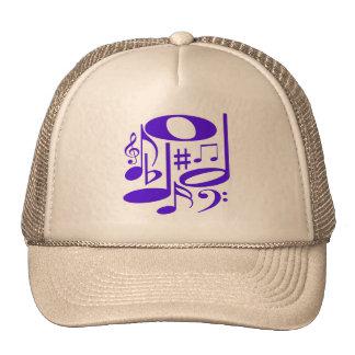 Gorra púrpura musical