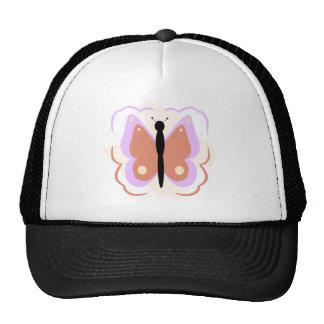 Gorra púrpura y anaranjado bonito de la mariposa