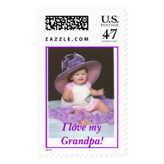 ¡Gorra púrpura Zaylynn, amo myGrandpa! Sellos