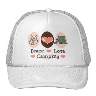 Gorra que acampa del amor de la paz