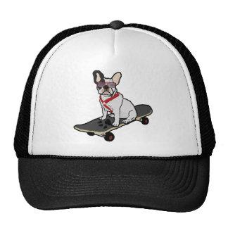Gorra que anda en monopatín del dogo francés
