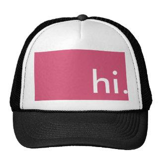 Gorra que dice hi