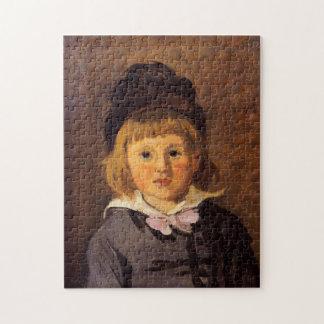Gorra que lleva de Jean Monet con la bella arte de Puzzle Con Fotos