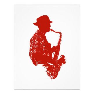 Gorra que lleva de saxofón del jugador del esquema comunicado personal