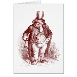 Gorra que lleva del pájaro tarjeta de felicitación