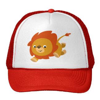 Gorra rápido lindo del león del dibujo animado