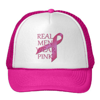 Gorra real de la malla del rosa del desgaste de ho