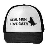 Gorra real de los gatos del amor de los hombres