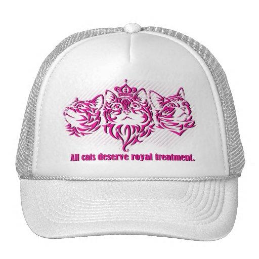Gorra real del tratamiento