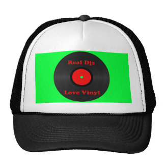 Gorra real del vinilo del amor de Djs