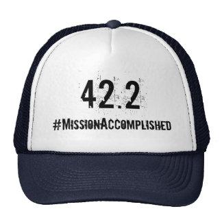Gorra realizado de la misión del maratón 42,2