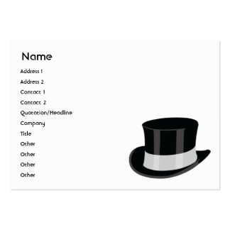 Gorra - rechoncho tarjetas de visita grandes