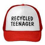 Gorra reciclado del camionero del adolescente