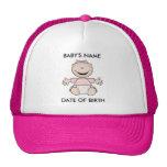 Gorra recién nacido del chica caucásico