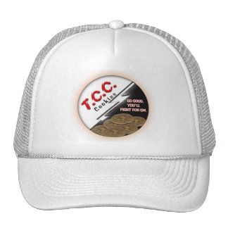 Gorra redondo del logotipo del TCC, blanco