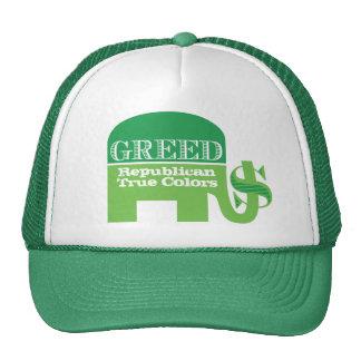 Gorra republicano de los colores verdaderos